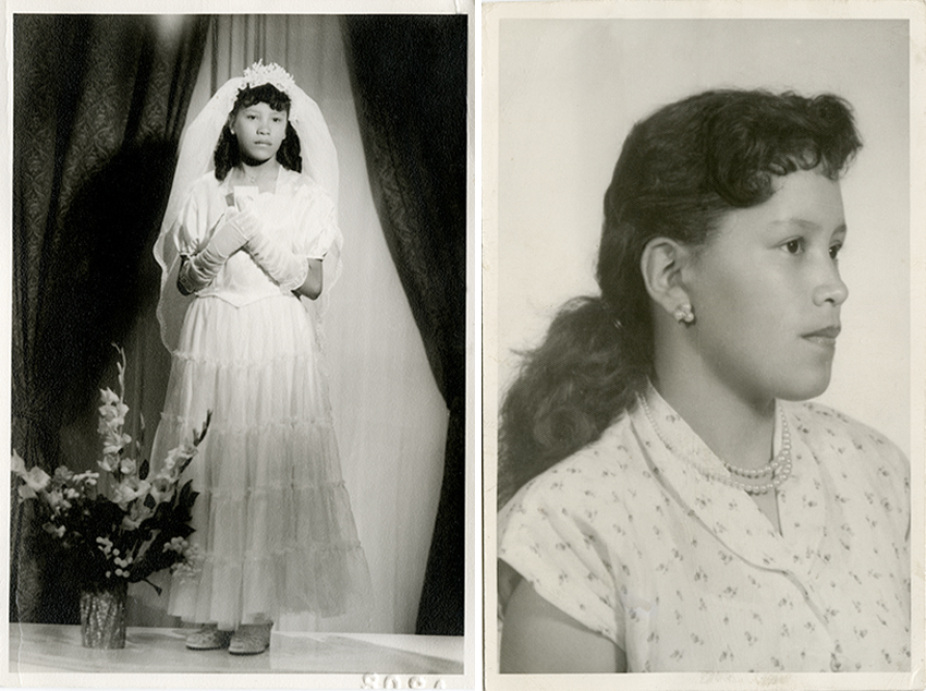 vintage first holy communion photo